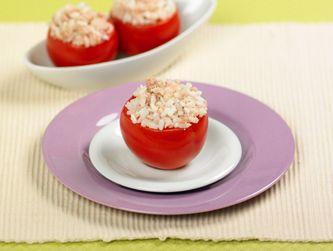 Pomodori ripieni di riso e tonno - Alimentazione bambini