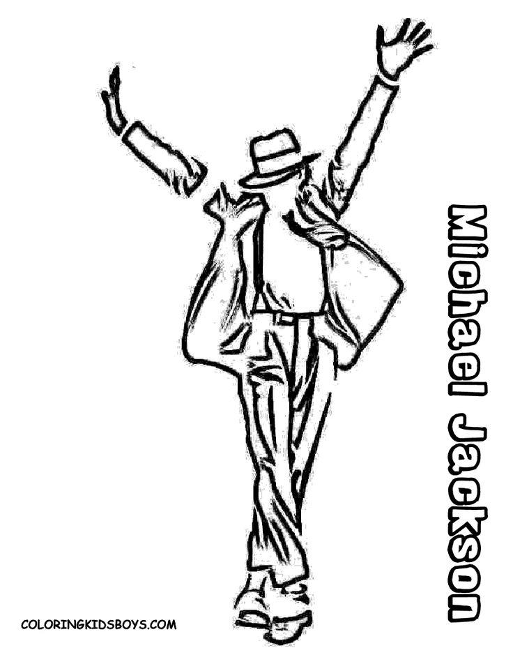 Michael Jackson Coloring Sheets Free