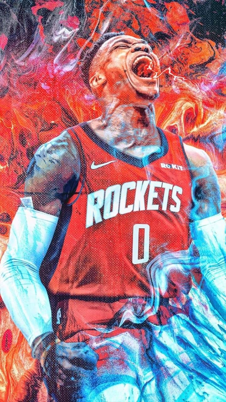 Russell Westbrook Wallpaper For Mobile Phone Tablet Desktop Computer And Other Devices Hd And 4k Wallpa Nba Basketball Art Nba Wallpapers Westbrook Wallpaper