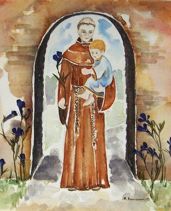 St Anthony Of Padua Art Print by Regina Ammerman. All prints are professionally printed, packaged, and shipped within 3 - 4 business days. Choose from multiple sizes and hundreds of frame and mat options.