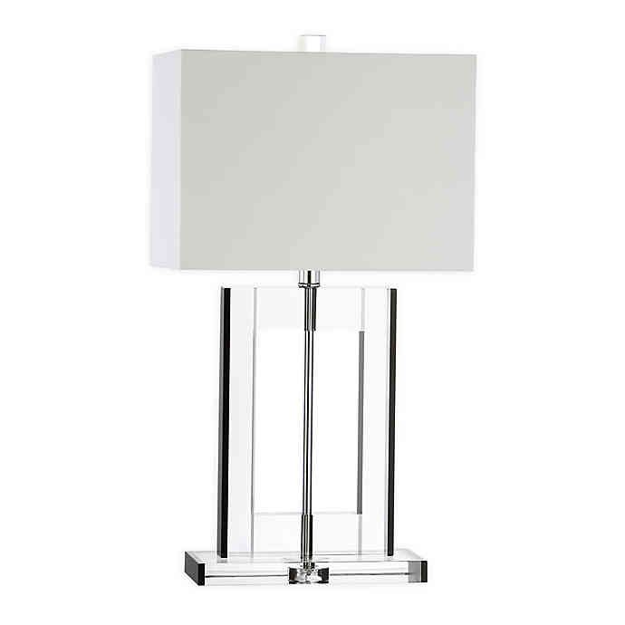 Jonathan Y Parish 26 Crystal Table Lamp With Cotton Shade Bed Bath Beyond Crystal Table Lamps Metal Lighting Lamp