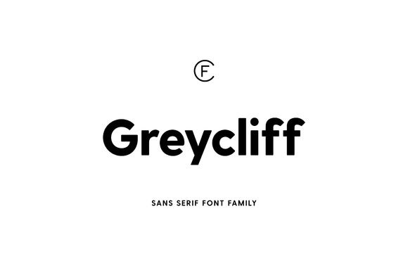 Greycliff CF sans serif font family by Connary Fagen Type Design on @creativemarket