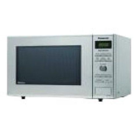 Panasonic Compact Inverter 0.8-cu ft Microwave, Stainless Steel, Silver