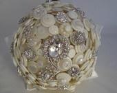 Alice in Wonderland Wedding Button Bouquet and Boutonniere. $340.00, via Etsy.: Wedding Buttons, Myperfectwedding 3