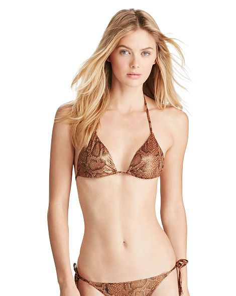 Python-Print Bikini Top - Polo Ralph Lauren Two-Pieces - RalphLauren.com