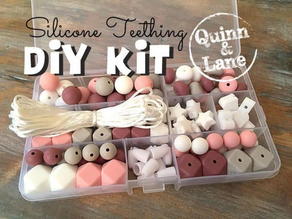 Silicone Teething DIY Kit  Silicone Beads & Supplies  Make