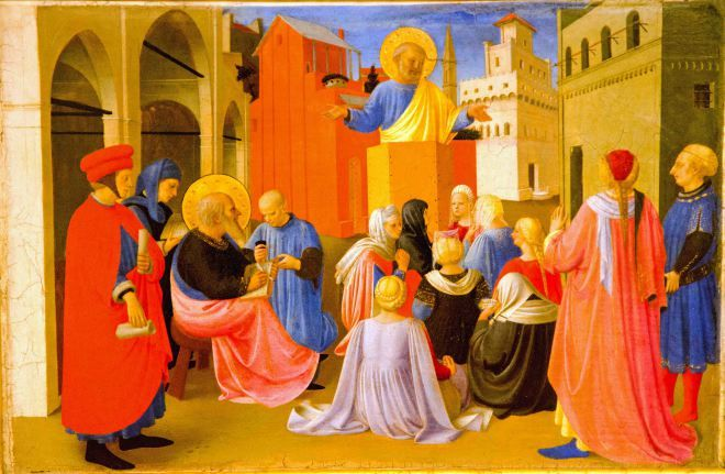 Fra Angelico, St. Peter Dictating the Gospel to St. Mark, Tabernacle of the Linaioli