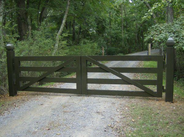 Entry Gate Idea Farm Wooden Farm Gates Fence Gate