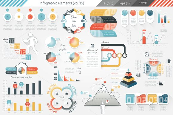 Infographic Elements (v15) by Infographic paradise on Creative Market
