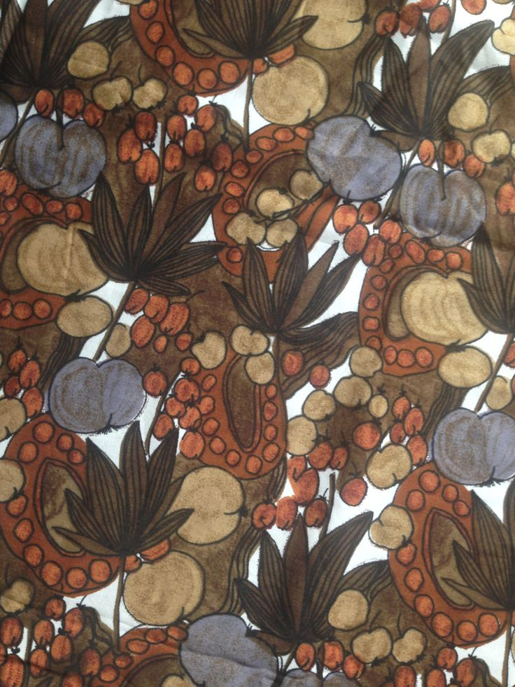 Vintage cotton dress fabric from Liberty in lovely autumnal colours