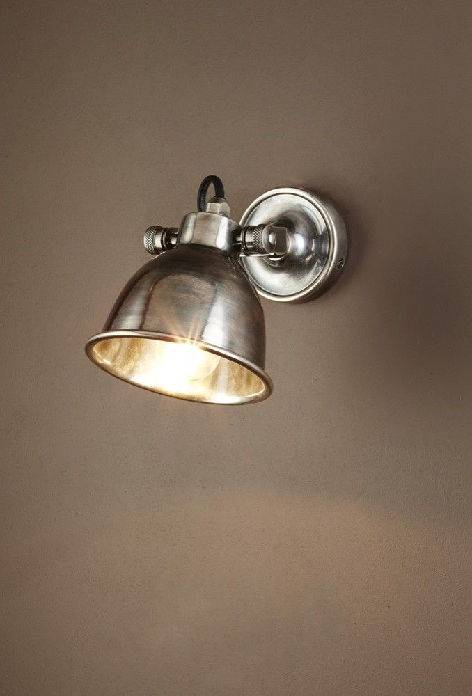 Phoenix Wall Lamp in Antique Silver $200