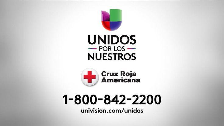 .@Univision se une a la Cruz Roja Americana para llevar ayuda... La línea de donaciones es el 1-800-842-2200  #UnidosPorLosNuestros