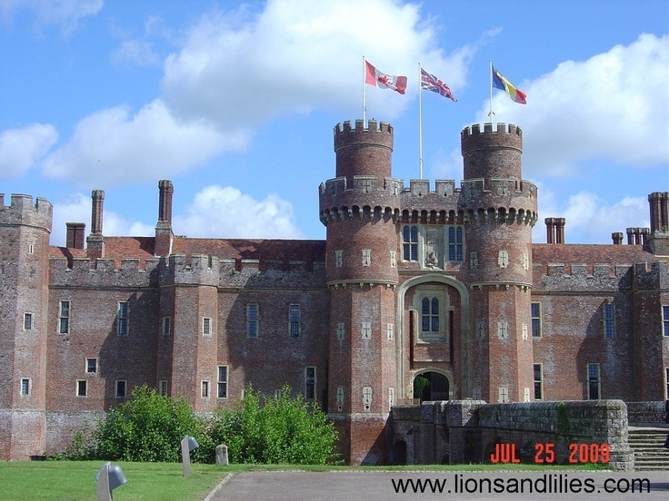 Herstmonceux Castle is a brick-built Tudor castle near Herstmonceux, East Sussex, England. From 1957 to 1988 its grounds were the home of the Royal Greenwich Observatory. Today it is used by the Bader International Study Centre of Queen's University, Canada.