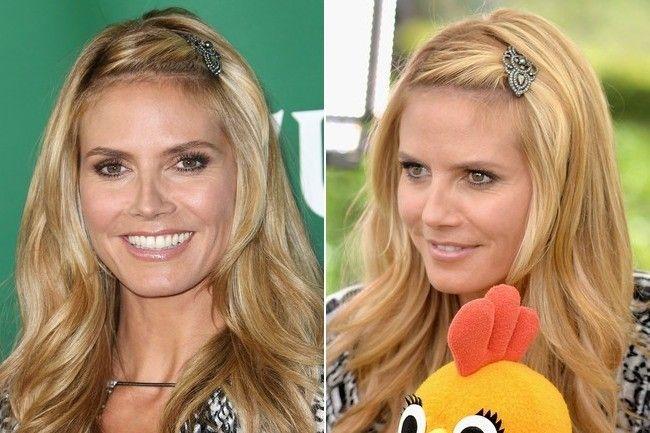 Heidi Klum's sweet & sparkly hair clip