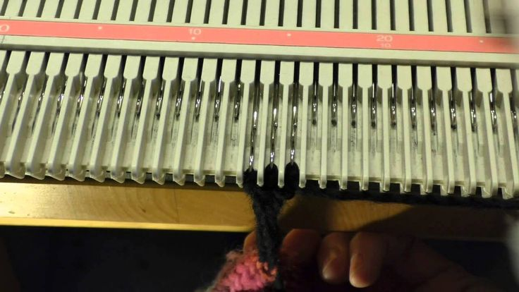 How to make an I-cord on a Silver Reed LK150