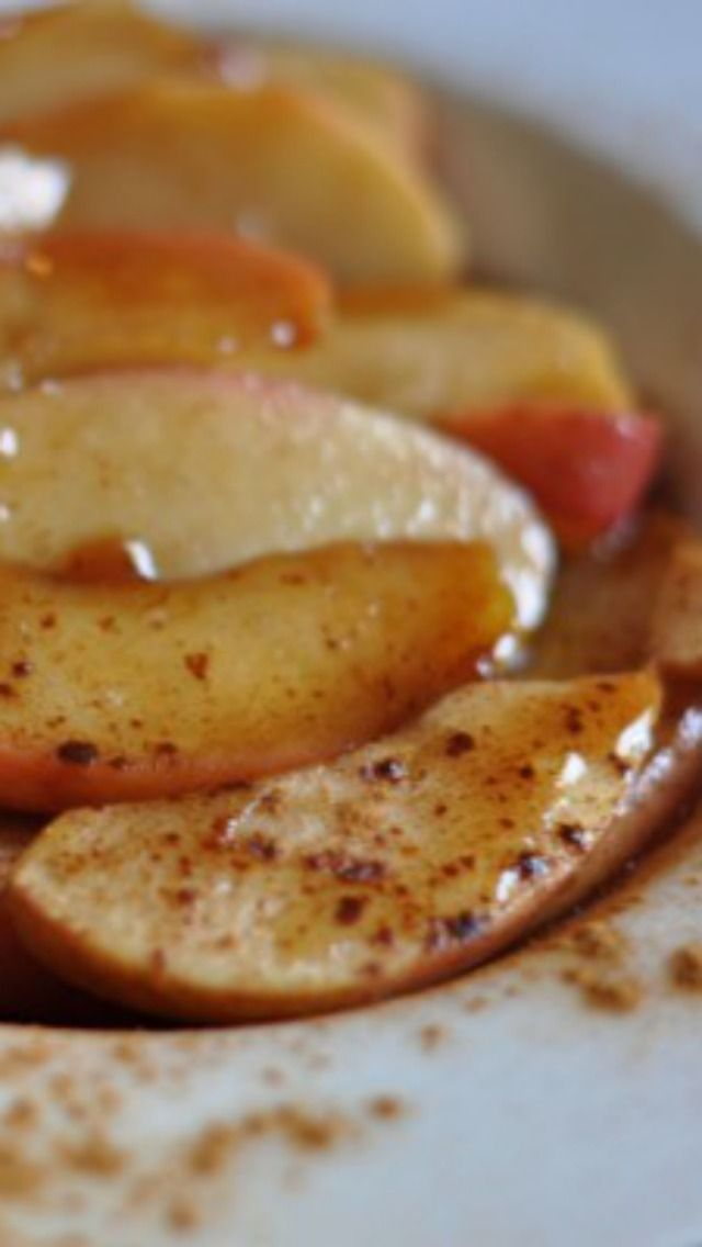 Copycat Cracker Barrel Fried Apples, you can make these from scratch, its the perfect recipe for the fall.   Recipe from CopyKat.com #copycat