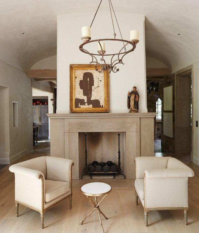 Plaster And Limestone Fireplace Limestone Fireplace Home