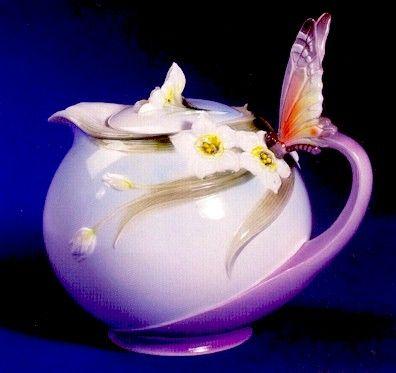 Franz Porcelain Butterfly Tea Pot $89.00