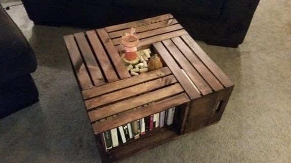 Wine Crate Coffee Table by AWoodenAnchor on Etsy