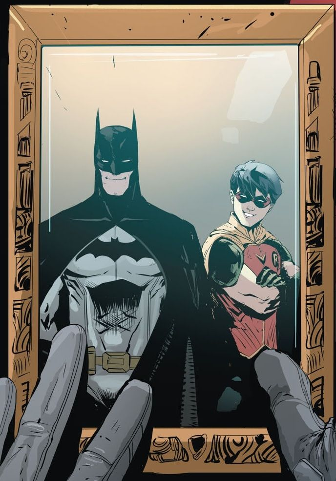 Jason Todd still has the picture. Batman and Robin Bruce Wayne  Red Hood and the Outlaws Rebirth