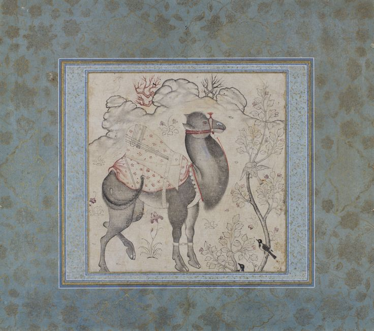 Iran, unknown artist (Iranian), Camel, 17th century or later, ink and light color on paper