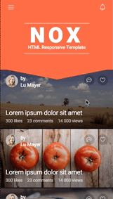 NOX | Mobile Responsive Template - Site Templates | ThemeForest