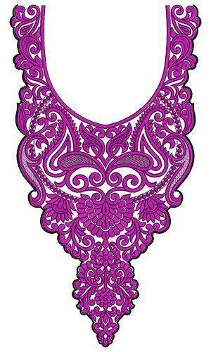 9746 Neck Embrodery Design