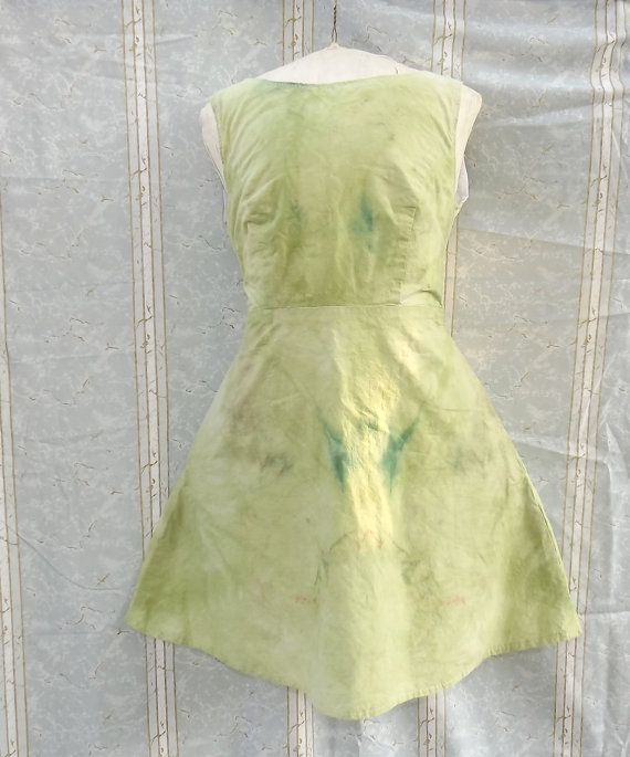 Green Fit and Flare Sundress Green Medium Hand Dyed by GraceAtieno, $60.00