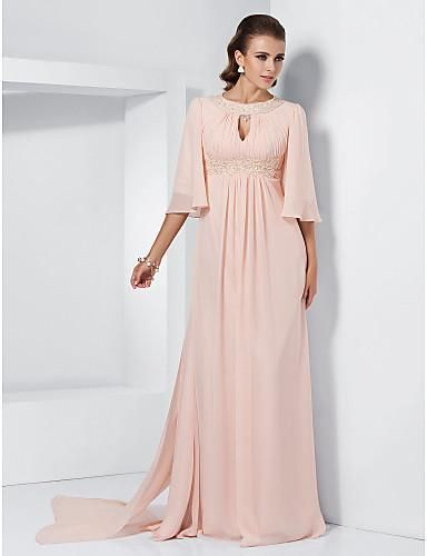 CLICK IMAGE TWICE FOR PRICING AND INFO:) #women #womendresses #eveninggown #cocktaildress #wedding #weddinggown #eveningdresses #prom #debut #partydress #bridesmaid SEE MORE scoop womens dresses at ZBRANDS.COM Fashion A-line Scoop Sweep Train Chiffon Appliques Evening Dress SAL2083-LT