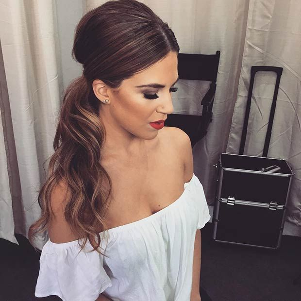 """There is no need to have the standard basis ponytail these days. There are so many different hairstyles to choose from, depending on your style and the length of your hair. If you have mid to long hair and you live a hectic and busy life, occasionally you want to tie your hair back and … Continue reading """"25 Elegant Ponytail Hairstyles for Special Occasions"""""""