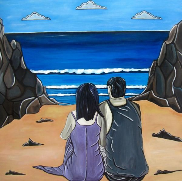 Love Is was inspired by a beautiful spot on Waiheke Island where I got married and is a favourite spot for couples. @Sandra Marie Adams