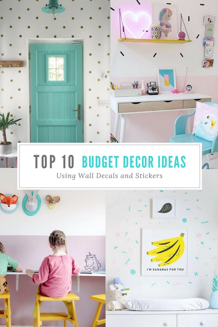192 best happy homes images on pinterest spaces wall decals and top 10 budget decorating ideas using wall decals and stickers