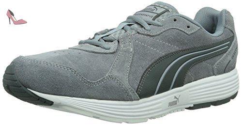 Puma Descendant V2 Suede, Chaussures de running homme - Gris (Tradewinds-Black 01), 39 EU - Chaussures puma (*Partner-Link)