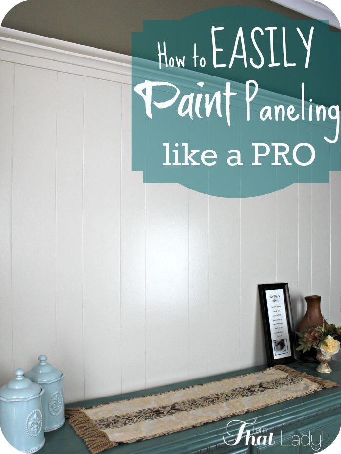 a simple tutorial on how to paint wood paneling like a pro