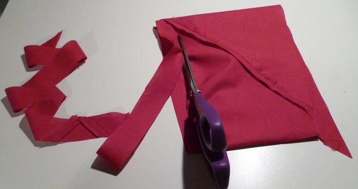 DIY faire du biais dans un minimum de tissu