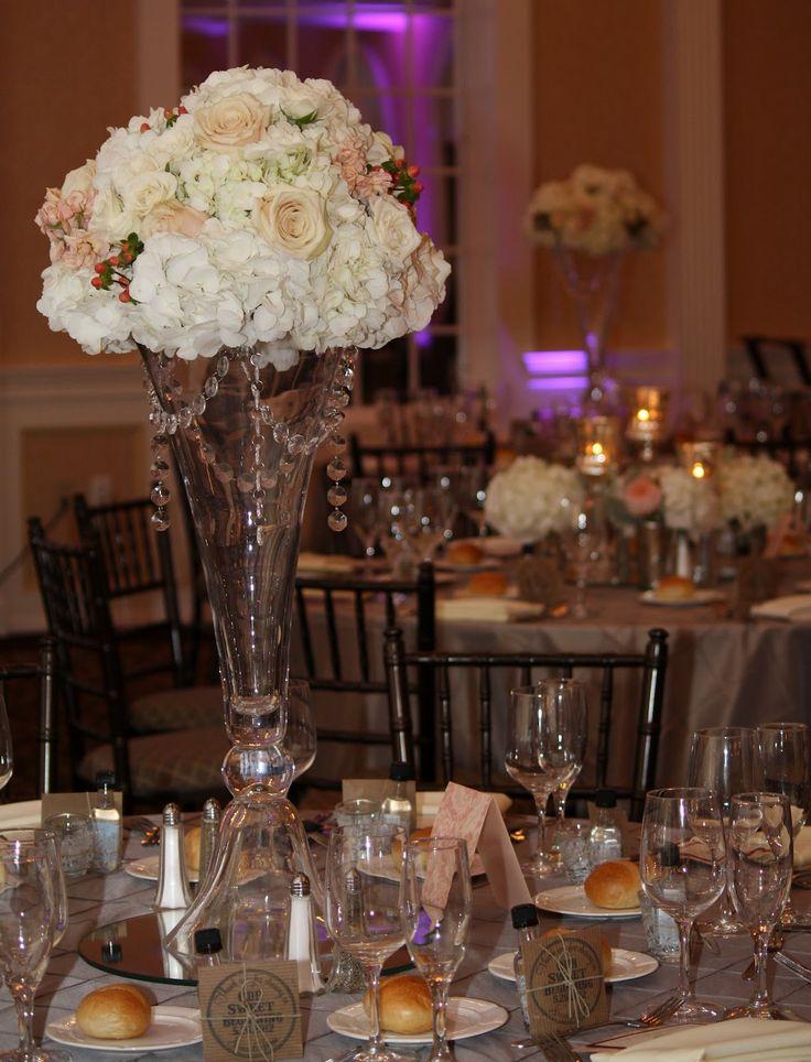 Amazing Dinner Ideas: Tall Vase Wedding Centerpieces