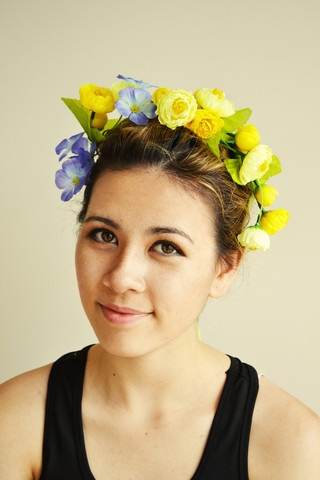 "$15.00 FREE SHIPPING!  ""Drops of Sunshine"" Flower Headpiece, Josie Smith Couture.  Yellow flower headpiece, perfect to brighten up a summer day if it's a bit cloudy. Go to www.frontrowfashionz.co.nz to purchase!"