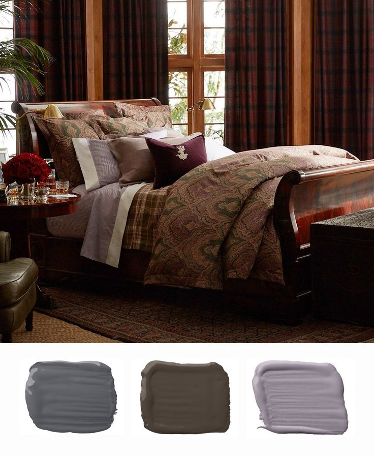 Ralph Lauren Paint colors to match the stately sensibility and heritage-inspired motifs of Great Compton bedding