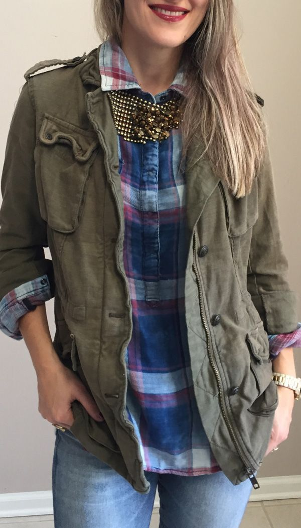 Olive Utility jacket; fall outfit and style
