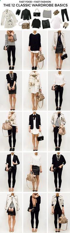 Classic Wardrobe Basics // Capsule Wardrobe // Black and White