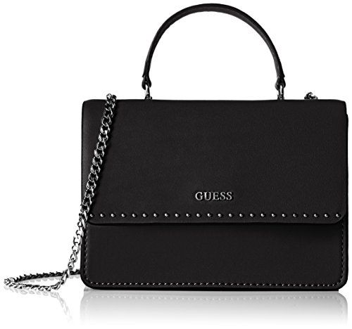 Guess Womens Nikki Convertible Xbody Flap Plus Handbag, Black (Onyx), One Size GUESS Nikki Convertible Crossbody Flap Onyxandlt