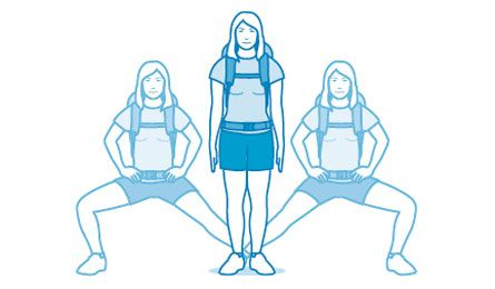 Backpacking exercises.  Become a mileage monster with these exercises and tips.