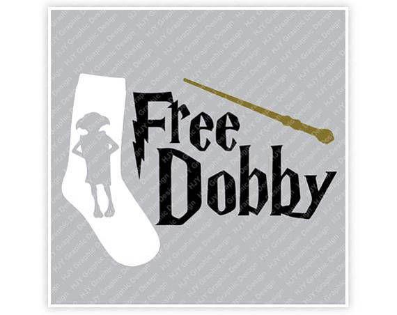 Harry Potter Dobby gratis calcetín varita Ilustración