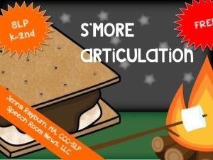 S'more Speech & Language Activities; FREE articulation activity from TheSpeechROomNews.com Great for camping themes and summer plans.