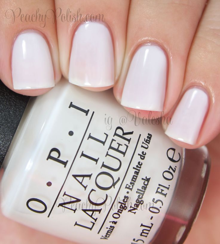 OPI Funny Bunny. The perfect opaque white polish without being stark white.