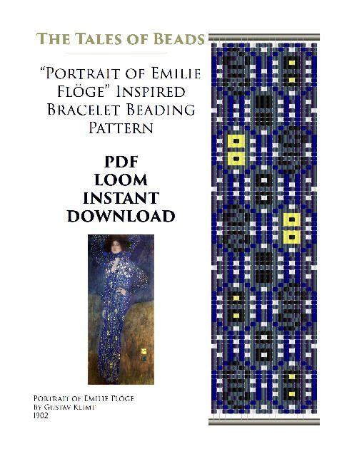 SALE Klimt Bead Loom Pattern Floge Bracelet Seed Beading