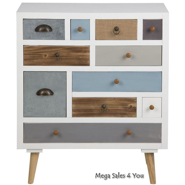 Scandinavian Chest Of Drawers Wooden Multi Color Storage Unit Cupboard Furniture in Home, Furniture & DIY, Furniture, Cabinets & Cupboards   eBay!