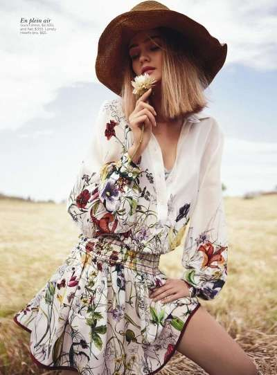 Country-Chic Editorials - Rosie Tupper Field of Dreams Infuses Nature with Femininity
