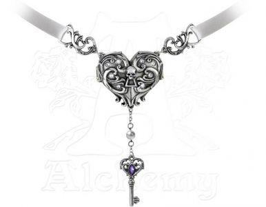 Alchemy Gothic Inamorato Locket Choker Necklace - P690