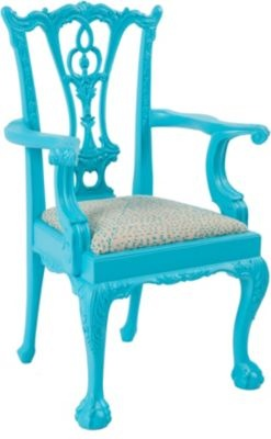 Paint an old chair...this Chippendale looks great in turquoise!